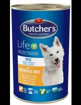 Butchers Life with chicken and rice pate -високо качествена храна за кучета над 6 месеца с пиле и ориз - пастет - 1.200 кг.
