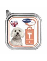 Butchers Pro series T with beef and game - високо качествен пастет за кучета от мини породите до 10 кг. с говеждо месо и дивеч - 0.150 кг.