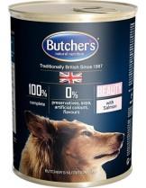 Butchers Plus Beauty with salmon chunks in jelly - високо качествена храна за кучета за здрава и красива козина с месо от сьомга в желе - 0.400 кг.