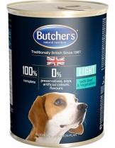 Butchers Plus Light with beef and vegetables chunks in jelly - високо качествена храна за кучета склони към напълняване с парчета говеждо в желе - 0.400 кг.