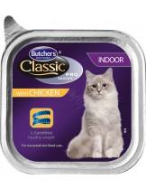 Butchers Classic Pro Series Indoor with chicken pate - високо качествен пастет за котки отглеждани на закрито - с пилешко месо - 0.100 кг.