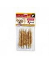 Antos - Raw Hide Roll premium - усукани солети обвити с пилешко месо - 12 см. - 6 бр.