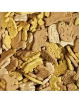 Animalovers Farm Mix Vanilla - деликатесни бисквити с формата на животни за кучета - 1 кг.
