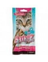 Flamingo Stikiz - лакомство за котки пръчици с риба,  + витамини A,D, E, - 3 бр. в опаковка