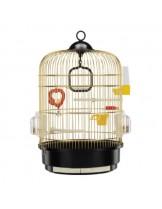 Ferplast - CAGE REGINA BRASS - оборудвана клетка за птици  с размери - Ø32,5xH 48,5 см