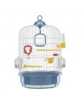 Ferplast - CAGE REGINA WHITE - оборудвана клетка за птици  с размери - Ø32,5xH 48,5 см
