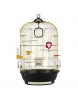 Ferplast Cage Diva Brass - луксозна клетка за малки птици - канарчета, финки, вълнисти папагали - 40хh65