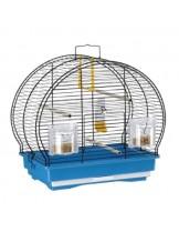 Ferplast - Luna 1 Black - оборудвана клетка за птици  с размери - 40x23,5x38,5 см