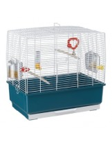 Ferplast - CAGE REKORD 3 PEARLY WHITE - оборудвана клетка за птици  с размери - 49х30х48,5 см