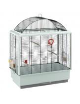 Ferplast - CAGE PALLADIO 4 BLACK - оборудвана клетка за птици  с размери - 59х33х75 см