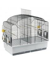Ferplast - CAGE CANTO BLACK - оборудвана клетка за птици  с размери - 71х38х60,5 см