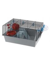 Ferplast - CAGE MICKY/MILOS LARGE black - Клетка за дребни гризачи хамстери и японски мишки - оборудвана 58х38х30,5 см.