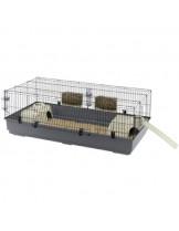 Ferplast -CAGE RABBIT 140 BLACK -оборудвана  клетка за зайци  с размери - 140х71х51 см