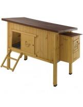 Ferplast - HEN HOUSE 30 - оборудвана дървена клетка за кокошки 162х100х110 см. (с поръчка)