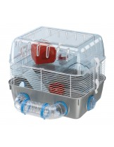 Ferplast - COMBI  1 FUN - напълно оборудвана клетка за хамстери на два етажа - 40,5 x 29,5 x h 32,5 см.