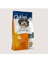 HAPPY DOG  F & W Adult Mini - храна за пораснали кучета над 10 м. от Мини породите до 10 кг. с пилешко и агнешко, билки, омега-3 и омега и 6 мастни к-ни - 1 кг.