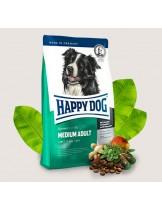 HAPPY DOG  F & W Adult Medium - храна за пораснали кучета над 1 година от средните породи (от 11 до 15 кг.) с пилешко, агнешко, новозеландски миди и билки - 4 кг.