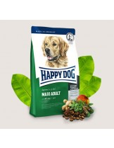 HAPPY DOG F & W Adult Maxi - храна за пораснали кучета над 1 година от едрите породи (над 26 кг.) с пилешко, агнешко, говеждо, новозеландски миди, билки, омега-3 и омега-6 - 4 кг.