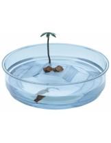 Ferplast - OASI -аквариум за костенурки  с размери - 34.5 см в диаметър х 9,5 см височина.