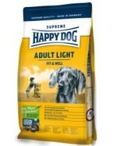 HAPPY DOG  F & W Adult Light - Адълт Лайт за кучета над 1 година склонни към затлъстяване с новозеландски миди, агнешко, пилешко,ориз, царевица и билки - 12,5 кг.