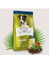 HAPPY DOG Sensible Nutrition Neuseeland MINI - Сюприйм Нюзийланд - за чувствителни и алергични кучета от дребните породи над 1 година с агнешко, сьомга, билки, ориз и екстракт от зеленоусти миди - 4 кг.