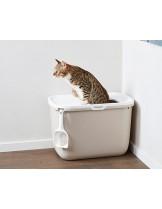 Savic Hop In котешка тоалетна с вход отгоре - цвят антрацит или мока - 58.5 х 39 х 39.5 см.