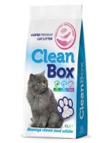 CleanBox Super Premium - , постелка за котешка тоалетна от фин бял бентонит - бебешка пудра - 5 л.