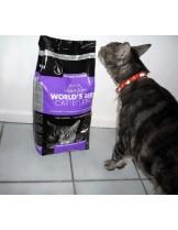 World's Best Cat Litter Multiple cat - високо качествена котешка тоалетна с аромат на лавандула, биоразградима - 3.18 кг.