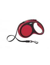 Flexi New Comfort М Tape - автоматичен повод за кучета с тегло до 25 кг. - лента - 5 метра - / розово, синьо, сиво, зелено /