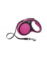 Flexi New Comfort L Tape - автоматичен повод за кучета с тегло до 60 кг. - лента - 5 метра - / розово, синьо, сиво, зелено /
