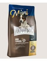 HAPPY DOG Sensible Nutrition Canada MINI - суха храна за чувствителни и активни кучета Сюприйм Канада от малките породи - със заешко, сьомга, агнешко, картофи без глутен и зърнени култури - 1 кг.