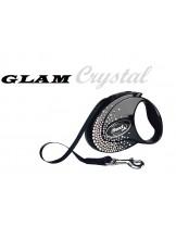 Flexi Glam Crystal CRYSTALIZED Swarovski - луксозен автоматичен повод с камъни 3 м., за кучета до 12 кг.