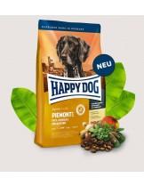HAPPY DOG Supreme Sensible Piemont - суха храна за чувствителни кучета над 1 година от средни и едри породи с патешко, морска риба и благороден кестен - 4 кг.