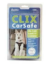 Company of Animals - Безопасен нагръдник за куче за кола регулируем CLIX XS - мини