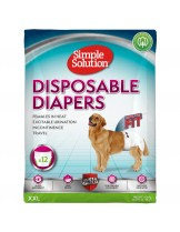 Simple Solution Disposable Diapers - Памперси за женски кучета - размер XXL - 12 бр.