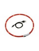 Karlie Светещ LED нашийник с USB за зареждане - за кучета от мини породи и котки - 30 см.