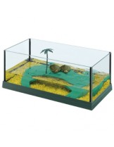 Ferplast - HAITI 40 - аквариум за костенурки с размери - 41,5х21,5х16 см