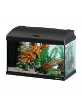 Ferplast Aquarium Capri 50 LED BLACK - аквариум с пълно оборудване и LED осветление - 52 x 27 x h 36 см - 50 л. - черен