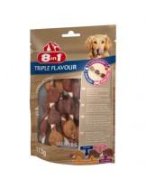 8in1 TRIPLE FLAVOUR MIX - XS - неустоим МИКС лакомство - шишчета за куче с различни вкусове - говеждо, патешко и пилешко месо - 113 гр.