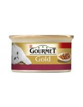 Gourmet Gold  - консерва за котки над 1 година - пиле и дроб - хапки в сос - 85 гр.