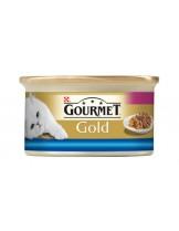 Gourmet Gold - консерва за котки над 1 година двойно удоволствие - океанска риба и спанак - 85 гр.