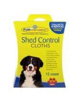 FURminator - Мокри кърпички против падане на козина за куче - 12 броя.