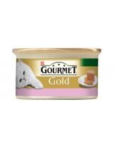 Gourmet Gold  - консерва за котки над 1 година патица и агнешко - хапки в пастет - 85 гр.