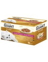 "Gourmet Gold   - консерва за котки над 1 година -""4 бр. Двойно удоволствие x 85 гр."" - 340 гр."