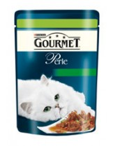 Gourmet Perle  - пауч за котки над 1 година - дивеч, домати и тиквички - 85 гр.