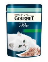 Gourmet Perle  - пауч за котки над 1 година - пъстърва и спанак - 85 гр.