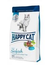 HAPPY CAT La Cuisine Seafish - храна за котка - Ла Кузин  - За чувствителни коткинад 12 месеца с органично Морска риба и смокини - 4 кг.