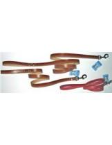 Миазоо Повод от телешка кожа - 1.0 см. -  110 см. - цвят класик, черен или червен