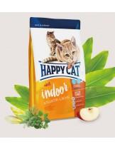 HAPPY CAT - Indoor Atlantik-Lachs (Atlantic Salmon) - за неактивни котки живеещи на закрито над 1 година с атлантическа сьомга и добавено пилешко и заешко - 10 кг.