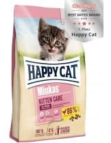 Happy Cat Minkas Kitten Care - пълноценна храна за подрастващи котки от 1 до 4 месеца, с пилешко месо - 10 кг.